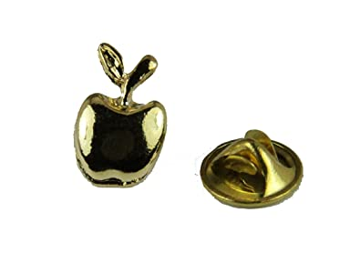 2019 Latest Design Gold Colored Apple Lapel Pin For Teachers Jewelry & Watches