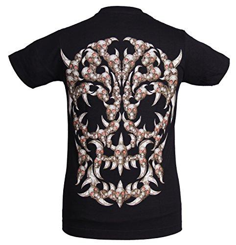 Go-Let-It-Out Herren T-Shirt, Paisley Schwarz Grau