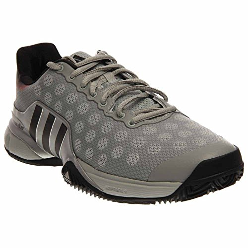 Adidas Barricade 2015 Men's Tennis Shoes Solid Gray / Gray / Bright Red Size 7.5