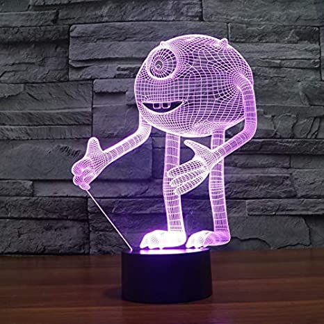 Amazon.com: ZLXXYD Night Light One-Eyed Monster Acrylic 3D ...
