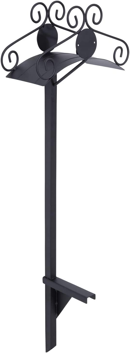 Liberty Garden 645 Ornamental 125-Foot Capacity Two Point Steel Garden Hose Stand, Black