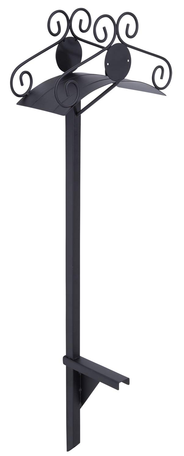 Liberty Garden 645-KD Decorative Metal Garden Hose Stand, Holds 125-Feet of 5/8-Inch Hose - Black