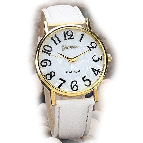(Watch, Womens Watch,Retro Digital Dial Analog Alloy Quartz Wrist Watch Retro Exquisite Luxury classic Bracelet Casual business Watches For Ladies Teen Girls (White))