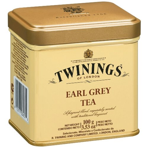 Twinings Earl Grey 100 Gram Loose Tea Tin, Set of (100g Loose Tea Tin)