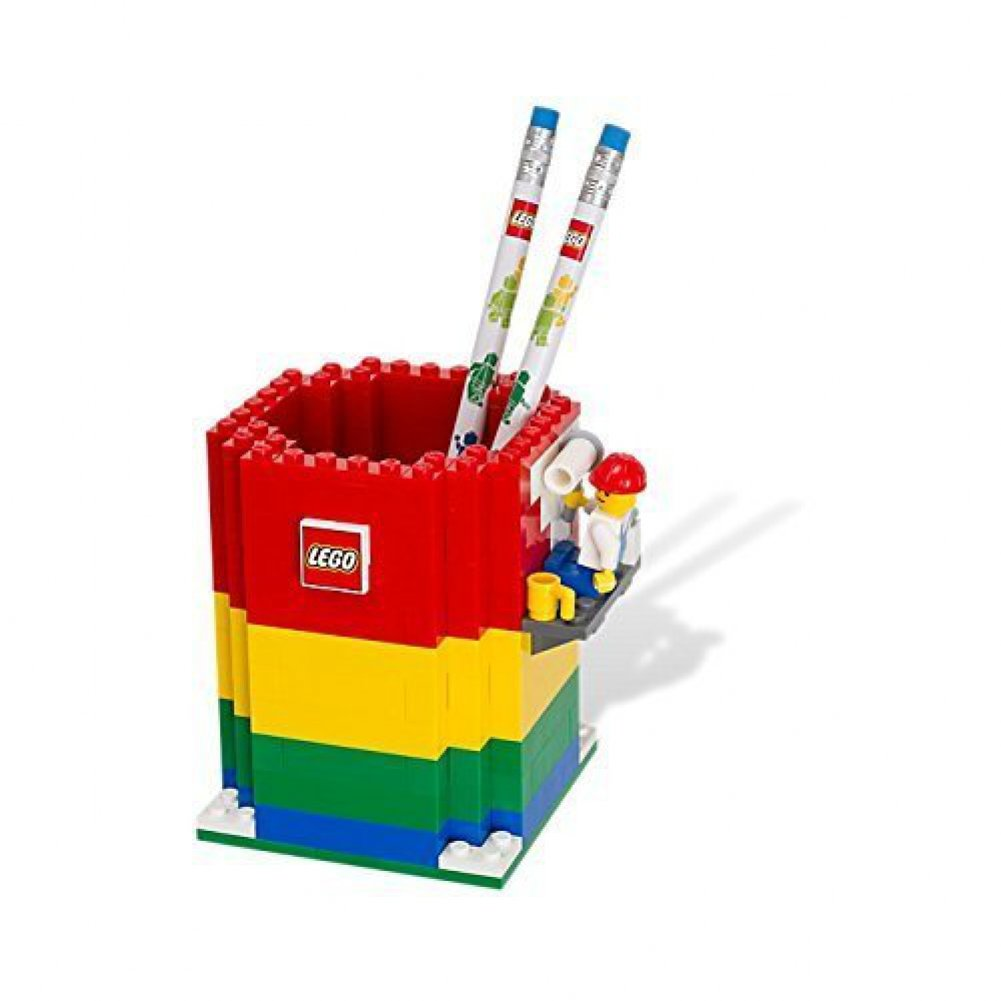 Amazon.com: LEGO Pencil Holder & Minifigure & 2 Pencils 850426: Toys ...