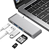 USB C Hub, FOSTEK USB C Adapter Instant Expansion with Type C Charging Port, 2 USB 3.0 Ports and Micro SD Card Reader for 12'' Macbook, Macbook Pro2016/2017 and More USB C Devices (Space Gray)