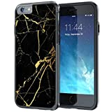 iPhone 6 6s Case, True Color Black & Gold Marble [Stone Texture Collection] Slim Hybrid Hard Back + Soft TPU Bumper Protective Durable [True Protect Series] iPhone 6 / 6s 4.7