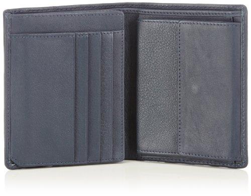 bugatti Bags Manhattan 49111405 Unisex-Erwachsene Geldbörsen 10x12x1 cm (B x H x T) Blau (Blau 05)