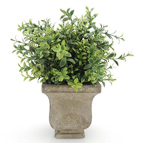 Velener Artificial Plants Fake Seven-layer Grass Arrangements in Pots for Home Decor (Green)