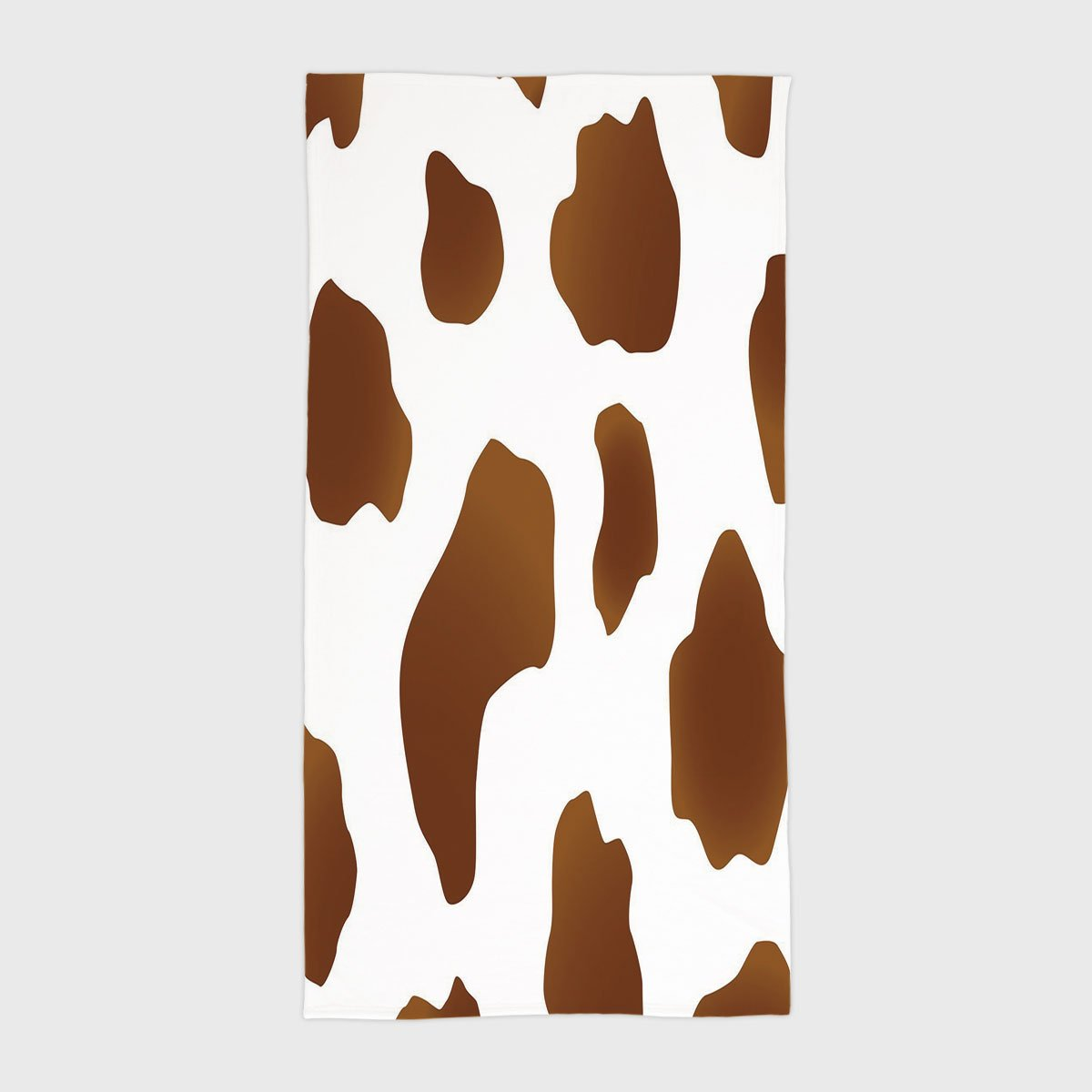 One Side Printing Hotel SPA Beach Pool Bath Hand Towel,Cow Print Brown Spots on a White Cow Skin Abstract Art Cattle Fur Farm Animals Cowboy Barn Decorative White Brown,for Kids Teens and Adults