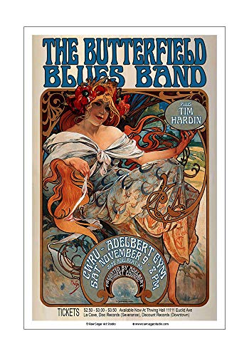 Raw Sugar Art Studio Butterfield Blues Band 1968 Cleveland Concert Poster ()