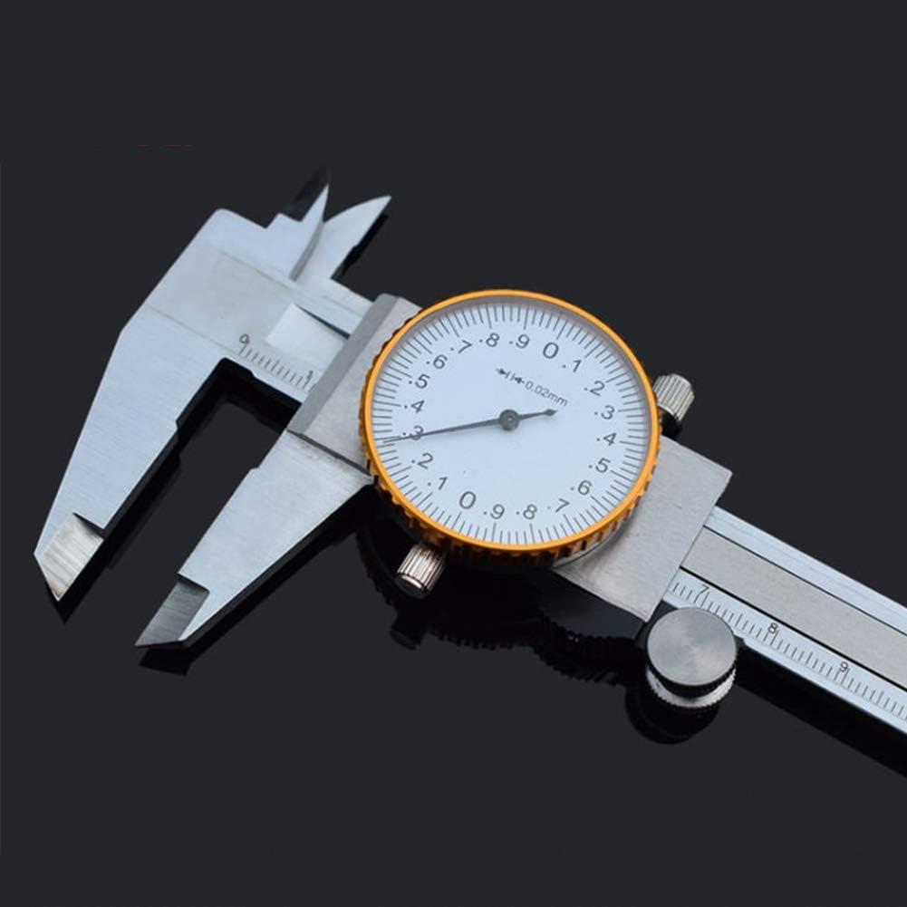 OERTUFU Shockproof Measuring Tool Gauge Metric Imperial Woodworking Micrometer Durable with Dial Ruler Portable Engineering Building