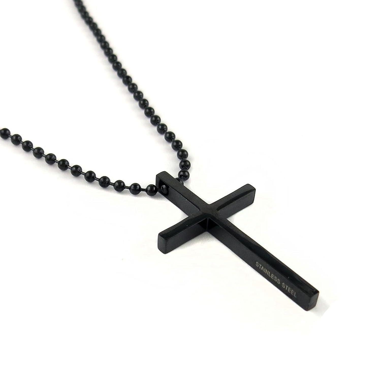 Amazon stainless steel black cross pendant chain necklace for amazon stainless steel black cross pendant chain necklace for men women 24 inches jewelry aloadofball Image collections