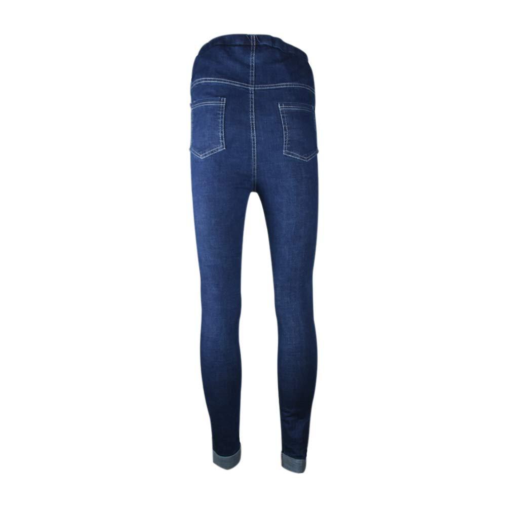 Deylaying Maternit/é Jeans Pantalon Grossesse Mode Enceinte Femmes /Épaissir Chaud Jeans Taille Haute Over The Bump Pantalons en Denim