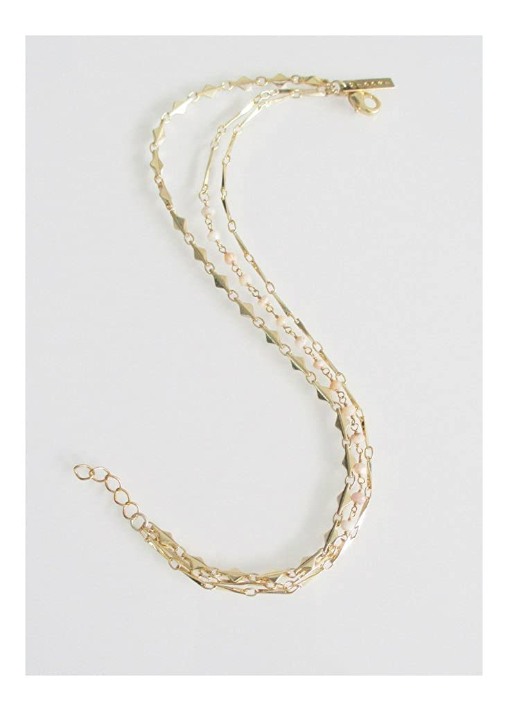 MIDORI LINEA Laurie Tiered Anklet Pink Opal