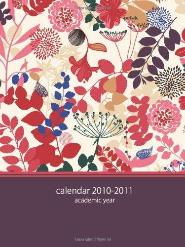2010 Pocket Calendar - 2010-2011 Academic POCKET Planner: purple floral