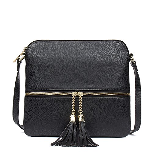 Clearance Lightweight Small Crossbody Bag For Women with Tassel Clutch Purse Handbag by CALLAGHAN
