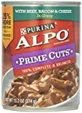 Alpo Prime Cuts In Gravy Canned Dog Food, Beef, Bacon & Cheese, 13.2 oz