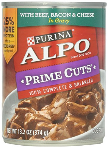 Alpo Prime Cuts In Gravy Canned Dog Food, Beef, Bacon & Cheese, 13.2 oz by Purina ALPO Brand Dog Food