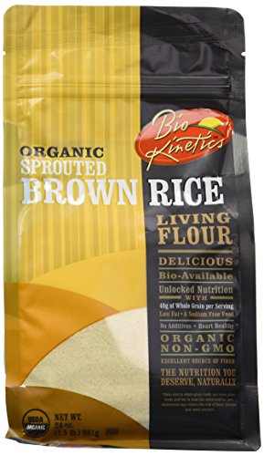 - Organic, Sprouted Brown Rice Flour, Non-GMO, Bio-Available with a Great Taste (24 oz) - Pack of 2