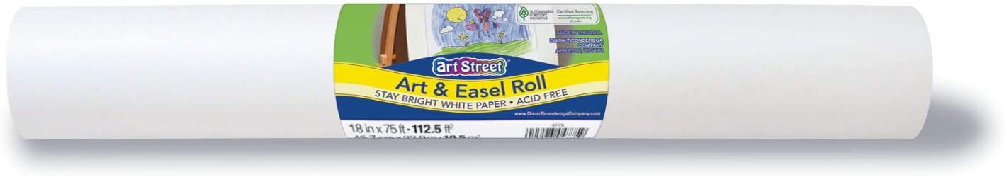 White Pacon Available 4775 Easel Roll