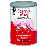 Designer Whey Protein Powder - Natural Whey - Luscious Strawberry - 12 oz - Gluten Free -