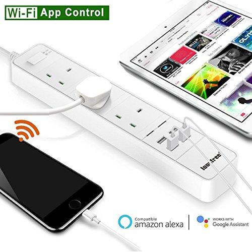 Wifi Smart Extension Cord Lead Power Strip Surge...