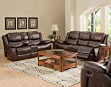 Kane Dual Power Motion Recliner Sofa & Loveseat & Chair in Premier Brown offers