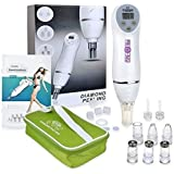 Pro-Nu Personal Diamond Microdermabrasion Machine. Exfoliates and Resurfaces the Skin and Blackhead Vacuum Suction Extraction to Promote Skin Health & Facial Renewal