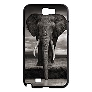D-PAFD Diy Phone Case Elephant Pattern Hard Case For Samsung Galaxy Note 2 N7100