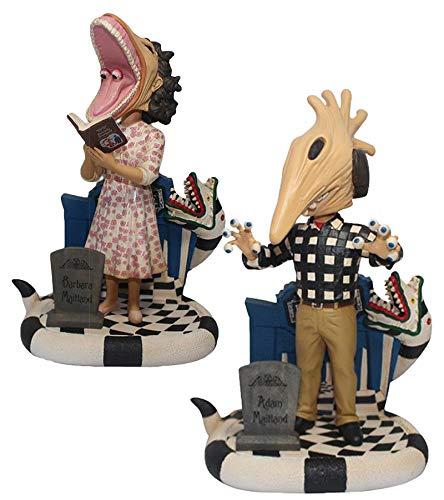 Beetlejuice Adam Maitland, And Barbara Maitland Bobble Head Set of 2