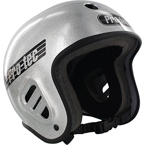 Silver Small Helmet - Pro-Tec Full Cut Skate Helmet, Silver Flake, Small