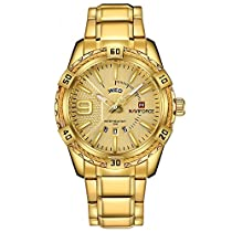 Naviforce Royal Gold Day & Date Luxury Men's Watch(NF9117)