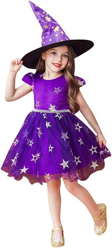 K-Youth Disfraz Halloween Vestidos Niña 3 a 10 años Tul Princesa ...