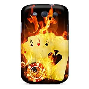 For Galaxy S3 Fashion Design Flaming Aces Case-mHKmGuW5748ulEmT