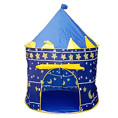 Yu2d  Princess Children Tent Game House Ball Pool Tent Baby Crawling Toy House Blue(Blue) ()