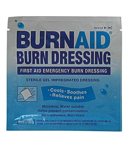 OSG New Burnaid Burns Dressing 10 X 10cm Injury Support Fast Application Burn Aid
