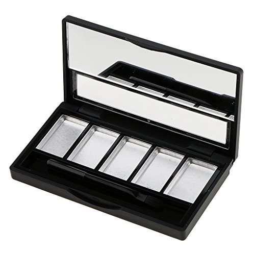 Baoblaze Hot Sale Empty 4/5 Grids Eyeshadow Lipstick Powder Box Case Cosmetic Packing with Palettes Kit - 5 Slots