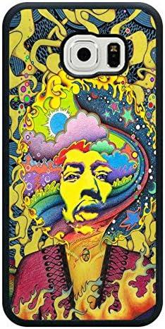 Jimi Hendrix - Carcasa para Samsung Galaxy S6 (negro)