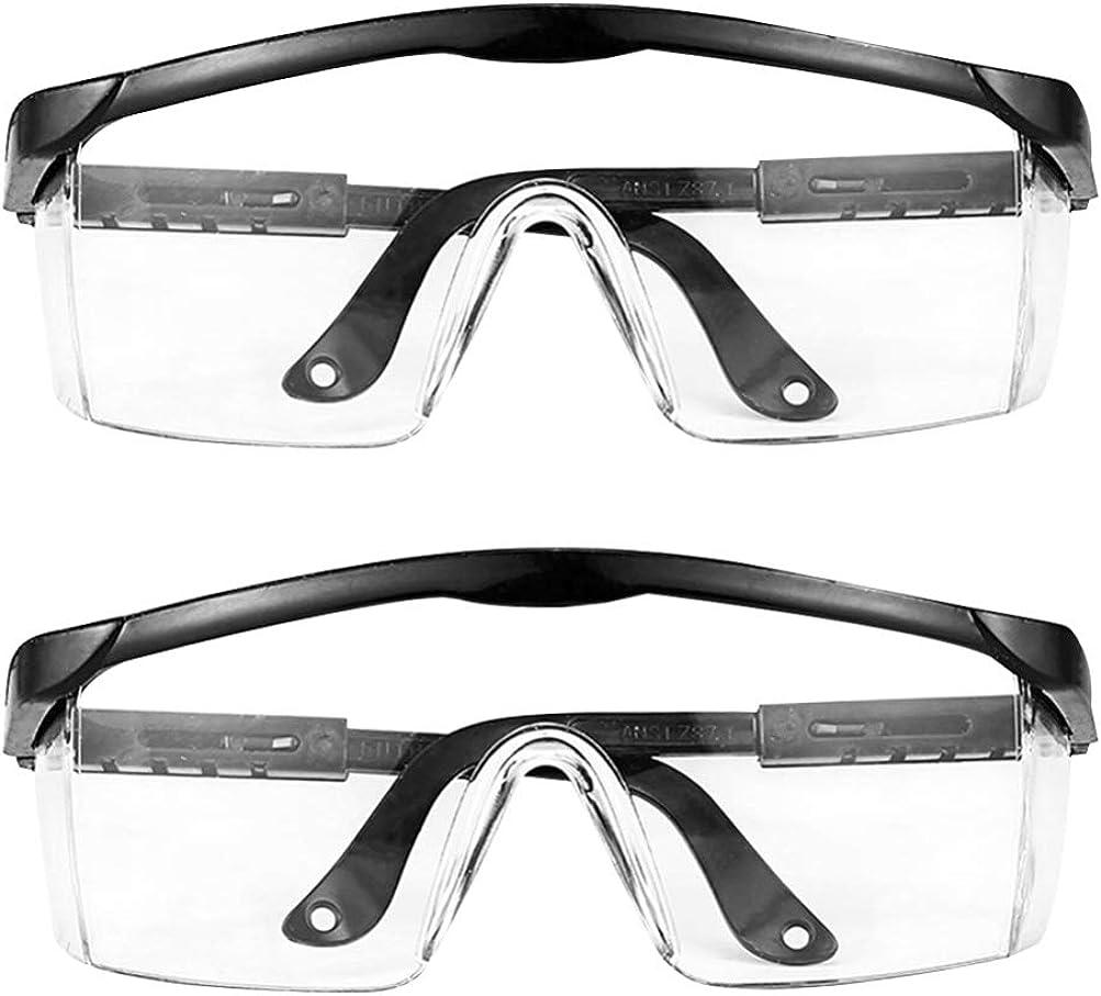 TOYANDONA 2 Piezas Gafas Desechables Anti Arena Viento Spary Desechables Antiproyección Gafas de Seguridad Protectoras Gafas Al Aire Libre Gafas para Mujeres Adultas (Negro)