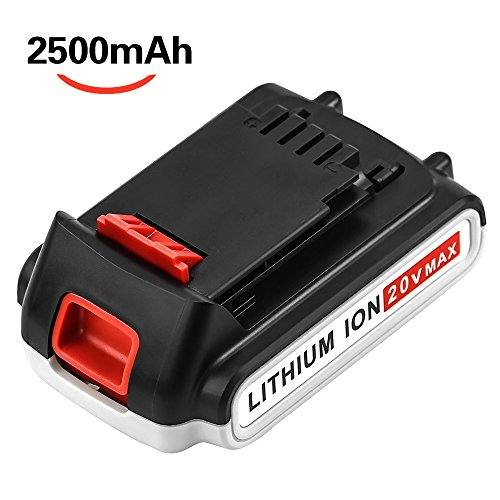 [Upgraded 2500mAh] LBXR20 20 Volt Battery Replace for Black and Decker 20V Battery MAX Lithium LB20 LBX20 LBX4020 LB2X4020-OPE Cordless Power Tools by Reoben