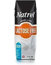 Natrel Milk Lactose Free Skim Prisma, 8 Ounce (Pack of 18)