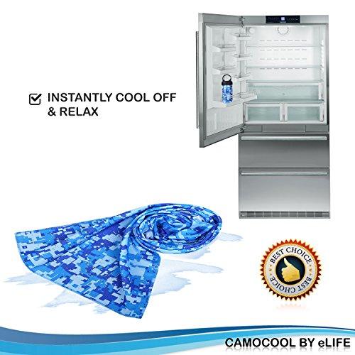 Sweat Towel Water Bottle: Microfiber Cooling Fitness Towel W/ Sports Bottle