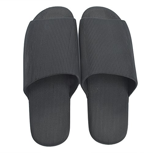 Unisex Anti Shower for Slip Cyiecw Bath and Sandals Bathroom Men Shoes Black Slippers Slide Women Rubber CRwq1xSd