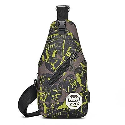 hongrun Tout-en-un sac à dos pack poitrine tactical pour hommes et femmes petite poitrine pack camouflage outdoor wall Pack sac à bandoulière unique paquet diagonale