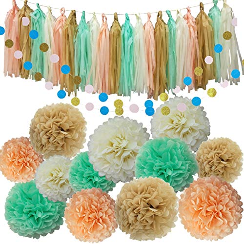 34pcs Party Decoration Kit Birthday Baby Shower Bridal Shower Bachelorette Wedding Party Supplies Set - 12