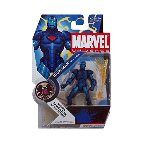 "Hasbro Marvel Universe 3 3/4"" Series 1 Action Figure Iron Man (Stealth Armor)"