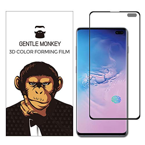 Gentle Monkey HD Ultra Clear Total Adhesive PET Film Curved Edge to Edge Screen Protector (Non-Glass) Compatible for Samsung Galaxy S10 Lite [2Packs] (Best Pet Monkey To Get)