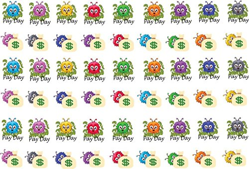 fluffies-pay-day-stickers-54-adorable-stickers-on-matte-repositionable-sticker-paper-sized-to-fit-mo