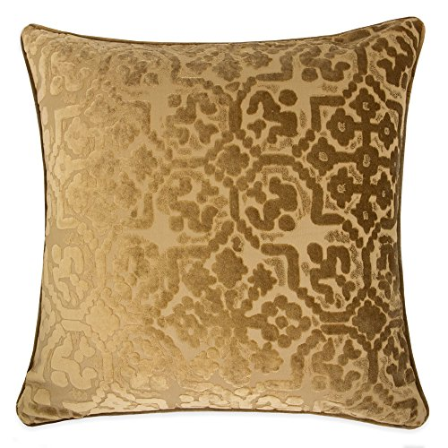 Homey Cozy Modern Velvet Throw Pillow Cover,Bronze Brown Luxury Soft Fuzzy Cozy Warm Slik Decorative Square Couch Cushion Pillow Case 20 x 20 Inch, Cover Only